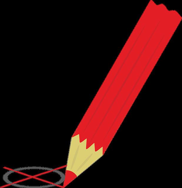 rood potlood verkiezing