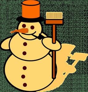 sneeuwpop bezem hoed wortel pijp pixabay