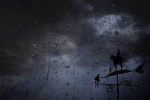 regen raam windwijzer