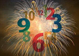 aftellen nieuwjaar vuurwerk
