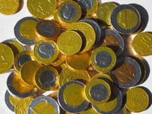 sinterklaas chocolade geld munt