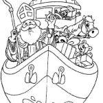 sinterklaas pakjesboot stoomboot kleurplaat