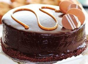 chocoladetaart karamel taart