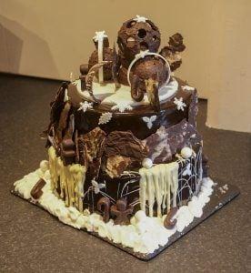 chocoladetaart gedecoreerd taart