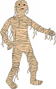 mummie kostuum halloween