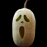 pompoen spook halloween uitgeholt