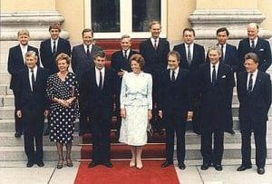 Kabinet-Lubbers II foto rijksoverheid