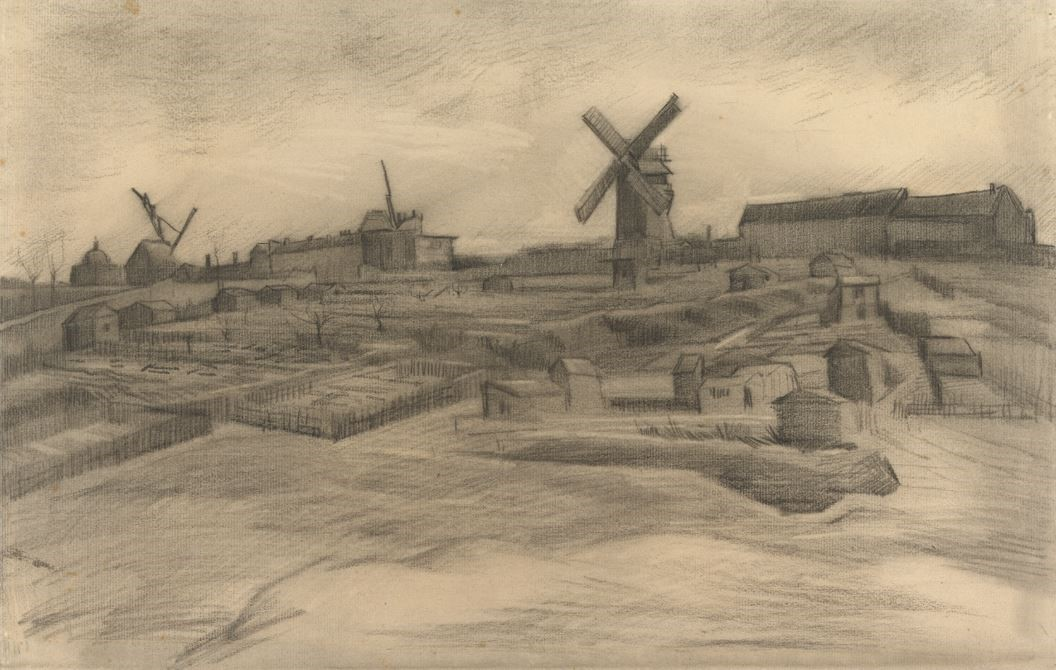 Vincent van Gogh De heuvel van Montmartre maart 1886