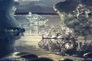 winter ijs schots water ijsschots