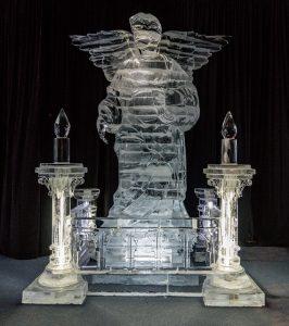 ijssculptuur engel winter