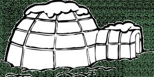 kleurplaat winter iglo sneeuw