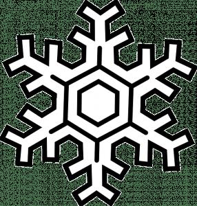 kleurplaat winter sneeuwvlok