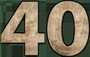 cijfer veertig 40 pixabay