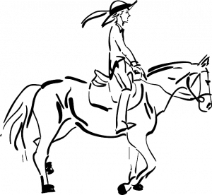 paard ruiter tekening pixabay
