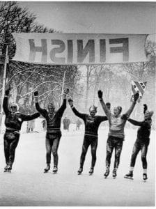 winter 1956 winnaars elfstedentocht schaatsen