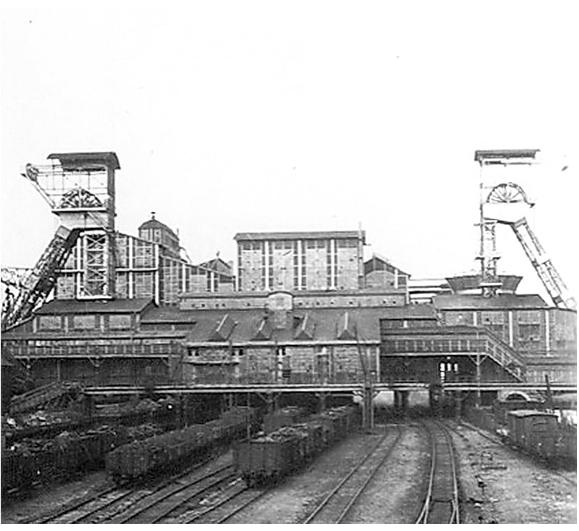 Staatsmijn Emma kolenwagons Brunssum