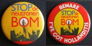 buttons protest atoomwapens