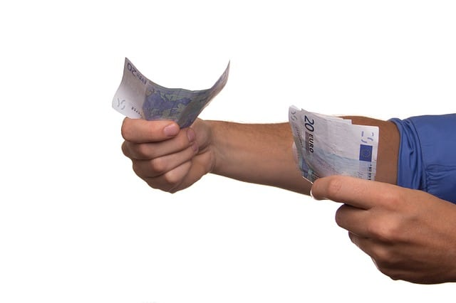 geld contant betalen