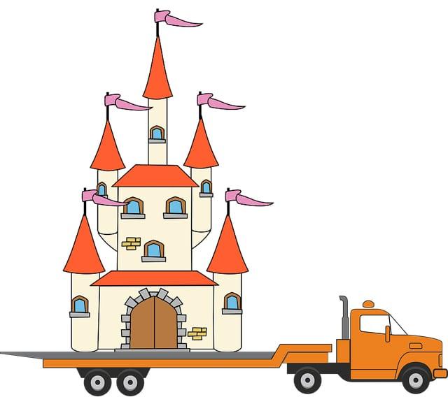paleis vrachtwagen tekening