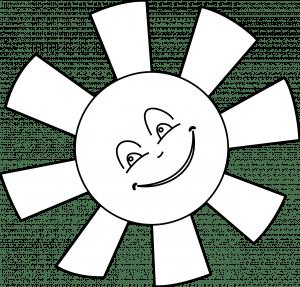 zon kleurplaat zomer