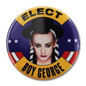 jaren 80 button BoyGeorge