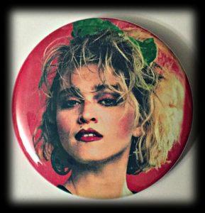 jaren 80 button Madonna