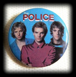 jaren 80 button The Police