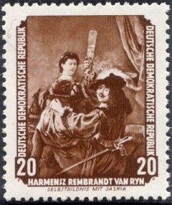 Rembrandt Rijn postzegel DDR