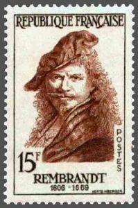 Rembrandt Rijn postzegel Frankrijk