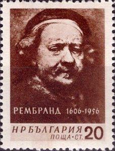 Rembrandt Rijn postzegel Roemenië