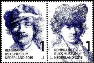 postzegel Rembrandt