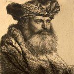 Rembrandt gebaarde man