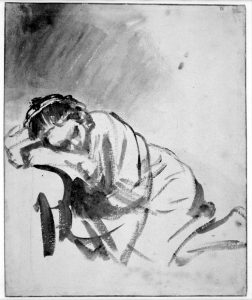 Rembrandt slapende vrouw