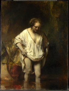 Rembrandt badende vrouw