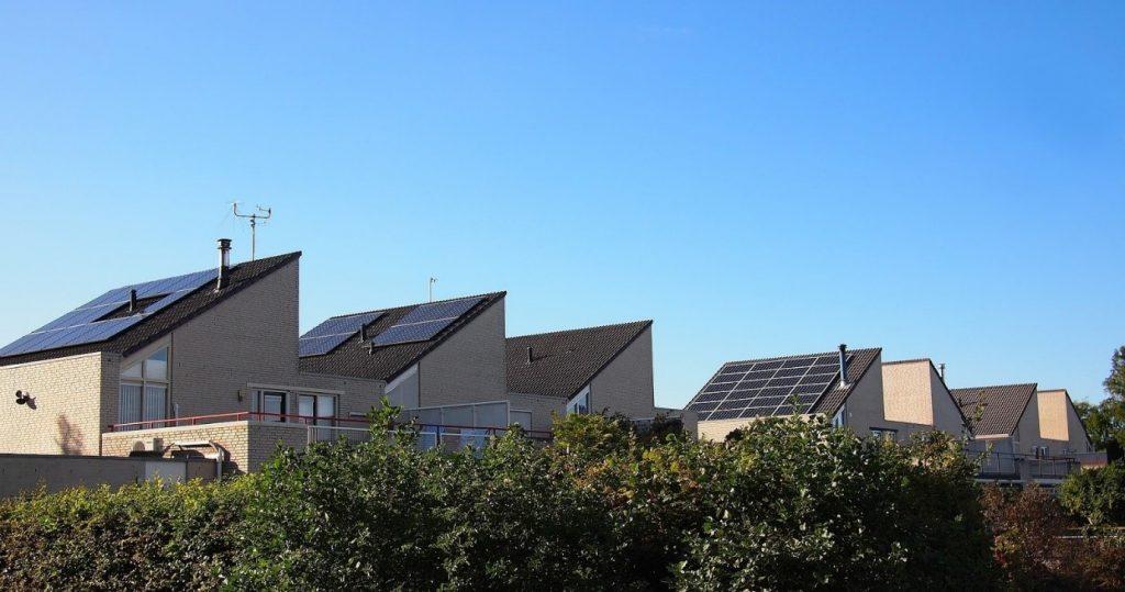 Zonnepanelen huizen