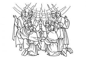 kleurplaat discipelen heilige geest