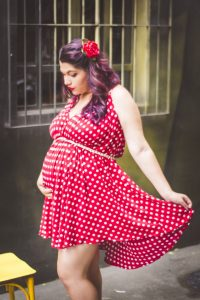 polka dots jurk