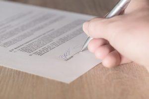 contract handtekening