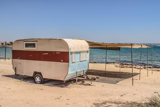 caravan strand vakantie