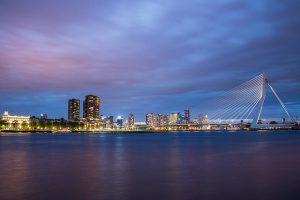 skyline Rotterdam erasmusbrug