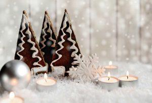 kerst kerstboom kerstbal kaars sneeuwvlok