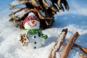 winter sneeuwpop kerst