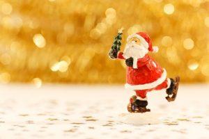 kerstman schaatsen kerst