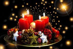 kerststukje kaarsen kerst