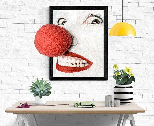 clown schilderij foto