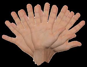 hand zwaaien