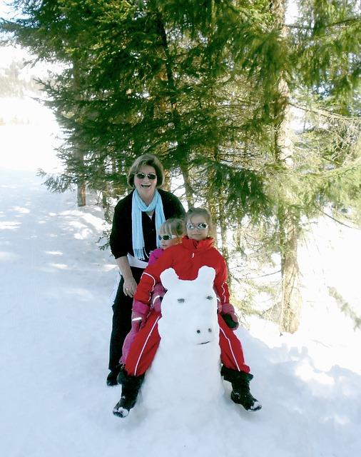 sneeuwpop oma kind